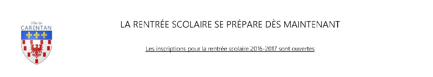 LA RENTRÉE SCOLAIRE SE PRÉPARE DÈS MAINTENANT -bandeau