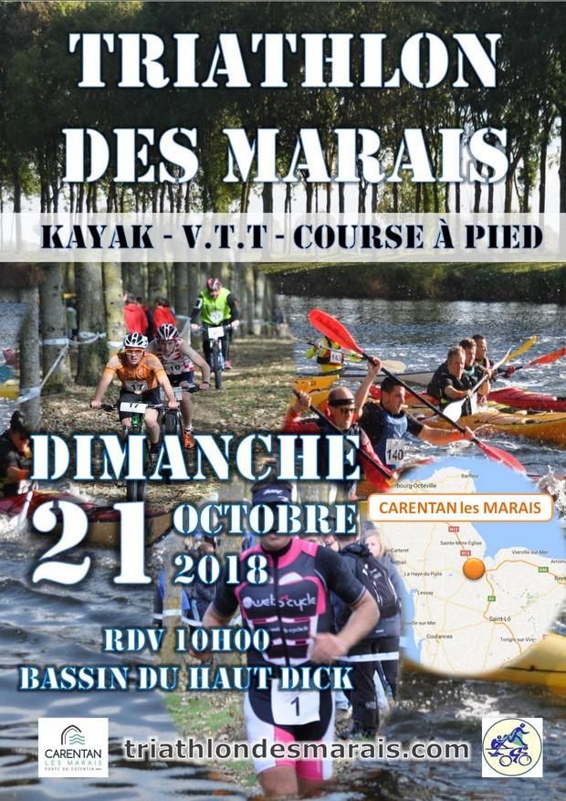 Affiche Triathlon des Marais 2018 [50%]