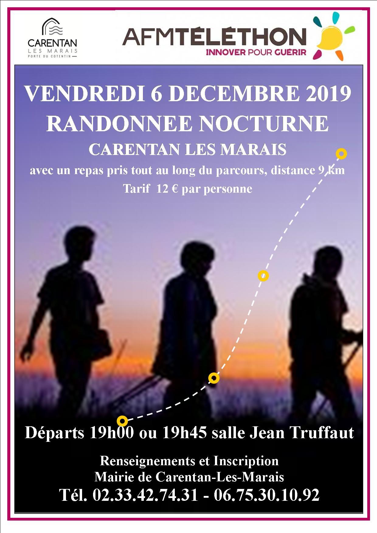 Affiche marche nocturne 2019